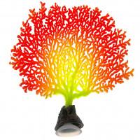 Декор для аквариумов JELLYFISH Коралл светящиеся красный
