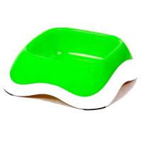 Миска для животных MAJOR пластиковая зеленая 330мл