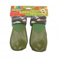 Носки для собак БАРБОСКИ высокое латексное покрытие, зеленые,