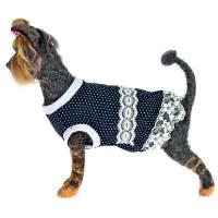 Платье для собак HAPPY PUPPY Шатель синий