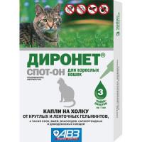 Антигельминтик для кошек АВЗ Диронет спот он