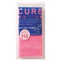 мочалка для тела средней жесткости (розовая) o:he
