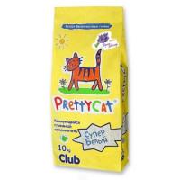 Наполнитель PrettyCat Cупер белый комкующийся для кошачьих