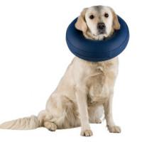 Воротник защитный Trixie для собак надувной S синий