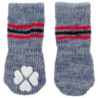 Носки Trixie для собак не скользящие XXS–XS серые
