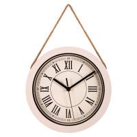 Часы настенные, размер: D25см, бежевый, на веревке
