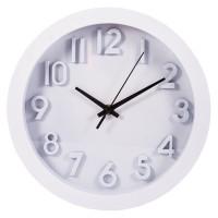 Часы настенные Белые, размер: D25см