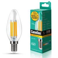 Лампа светодиодная FIL E14 12W свеча Camelion