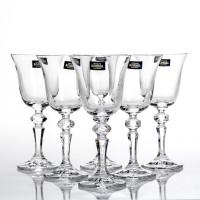 Набор бокалов для вина CRYSTALITE BOHEMIA Роза