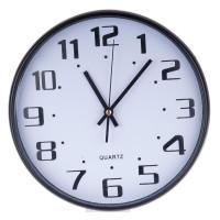 Часы настенные Круг, d30см, пластик, черный