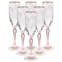 Набор бокалов для шампанского RONA Люция Розовая