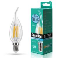 Лампа светодиодная FIL E14 12W свеча