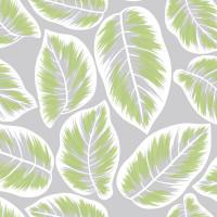 Скатерть Канна, размер: 110х132см, бело зелёный, прозрачный,