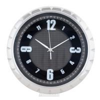 Часы настенные, Круг колесо 6669, пластик, хром