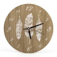 Часы настенные Перо, d30см, MDF