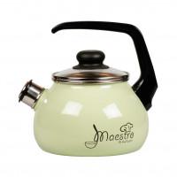 Чайник MAESTRO 2,0л со свистком, салатный, эмаль