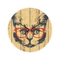 Часы настенные POSTERMARKET Кот, d30см, дерево