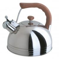 Чайник Regent со свистком 2,5л, нержавеющая сталь,
