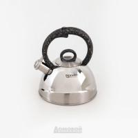 Чайник со свистком Rondell Marmara, 2,4л, нержавеющая сталь,
