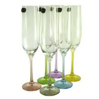 Набор бокалов для шампанского CRYSTALEX Виола Ассорти,