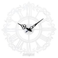 Часы металлические HOME DECOR, белые с римскими