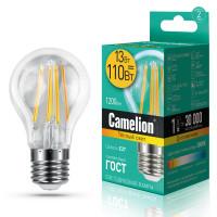 Лампа светодиодная FIL E27 13W груша Camelion