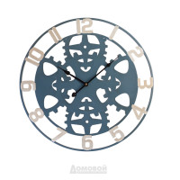Часы металлические HOME DECOR, черные с крупным часовым
