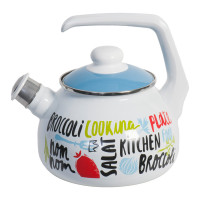 Чайник со свистком Metrot Брокколи, 2,5л, эмаль