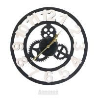 Часы металлические HOME DECOR, черные с часовым механизмом