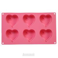 Форма для выпечки APOLLO Lovers, 16,5х28,5 см,силикон