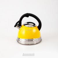Чайник со свистком Rondell Sole, 3,0 л, нержавеющая