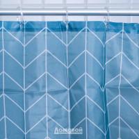Занавеска для ванной комнаты Стрела, 180х180см, полиэстер