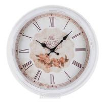 Часы настенные, Круг 6493, d40см, пластик, белый винтаж