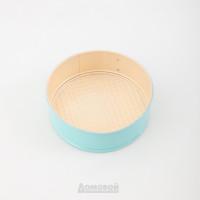 Форма для выпечки разъемная 19,5см молочно голубая,