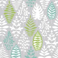 Скатерть V LINE Сканди, 110х132см, бело зелёный,