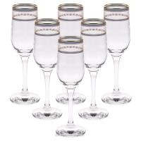 Набор бокалов для шампанского ГУСЬ ХРУСТАЛЬНЫЙ Лоза
