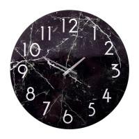 Часы настенные Черный мрамор, размер: d38см