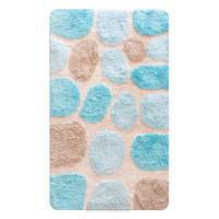 Коврик для ванной комнаты Лора синий, 60х100