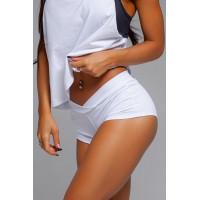Белые спортивные женские шорты shd.033.40.40