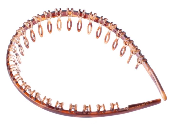 LA FRANCE Ободок-гребень, коричневый 01917-03M
