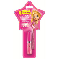 Принцесса, Блеск для губ Светло розовый со спонжем,