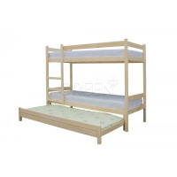 Двухъярусная кровать с выдвижным спальным местом