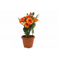 Искусственное растение в горшке Розочки