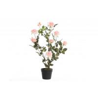 Искусственное растение в горшке Роза