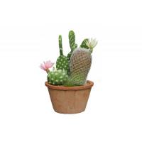 Искусственное растение в глиняном горшке Кактус