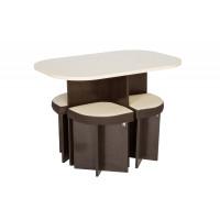 Комплект стол + 4 табурета Олимп