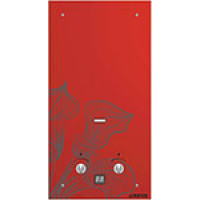 Газовый водонагреватель Neva 4510 Glass (красный цветок)