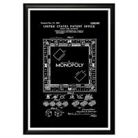 Арт постер патент на игру монополия