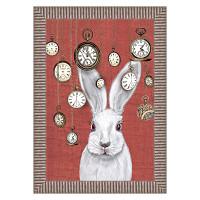 Арт постер мистер белый кролик