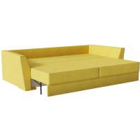 Диван кровать прямой милан Velvet желтого цвета